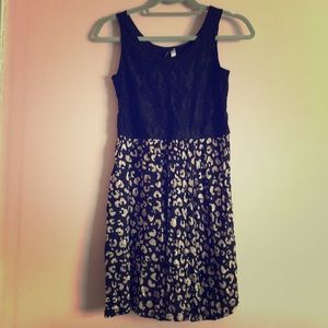 Kensie lace and leopard dress (xs)